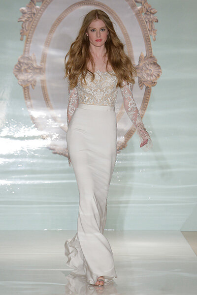 Reem Acra Spring 2015 Bridal Collection / New York Bridal Week. Photo: Getty.