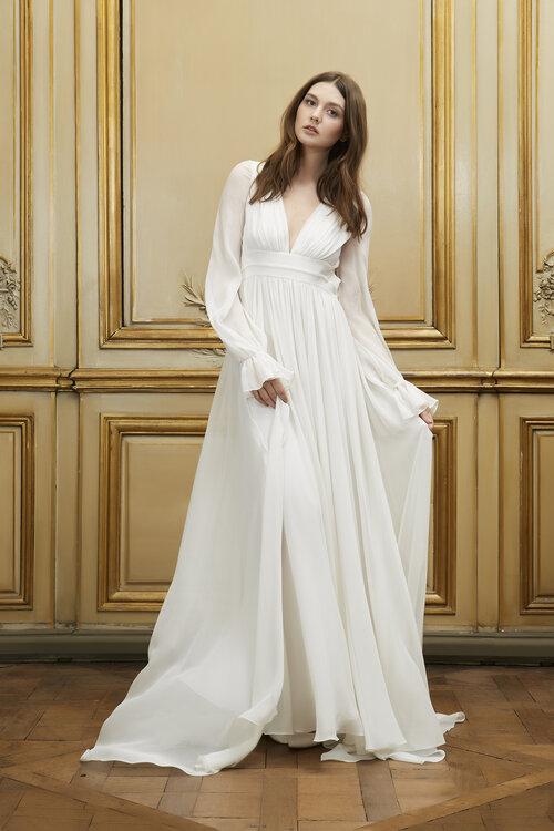 vestidos de novia corte imperio manga larga – vestidos baratos