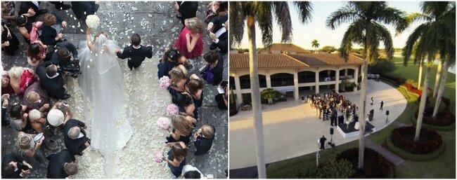 Increíbles imágenes de boda realizadas con drones.