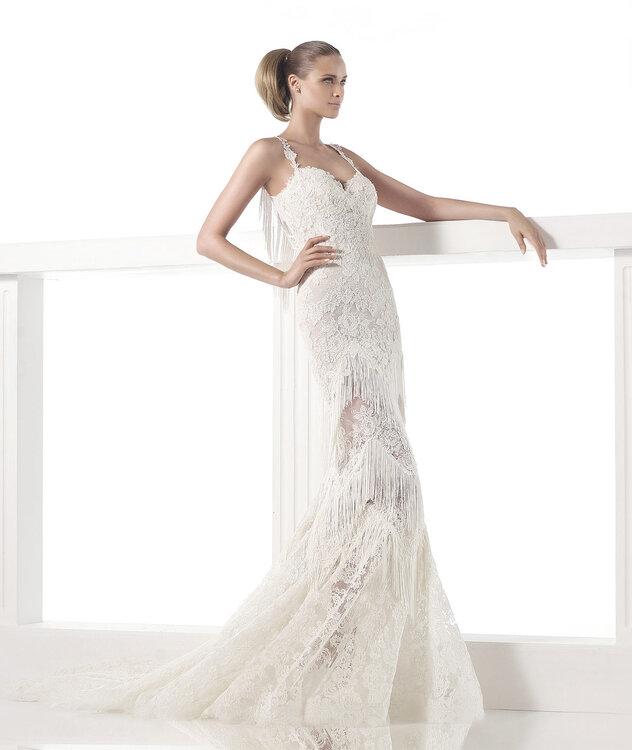 vestido de novia flecos