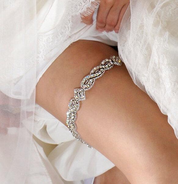Podwiązka ślubna z Etsy, sprzedawca: AlisaBrides