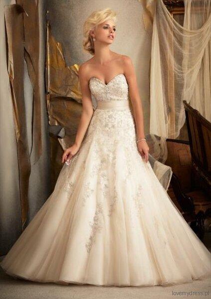 Suknia ślubna z kolekcji Mori Lee 2013, model: 1909
