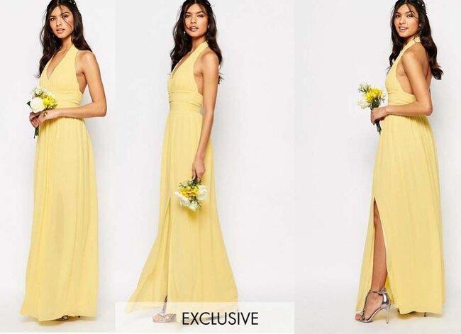 Vestido de fiesta amarillo en santiago