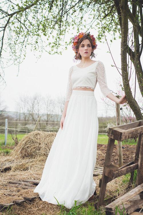 Gli abiti da sposa 2 pezzi più belli del 2017: quando leleganza incontra la comodità