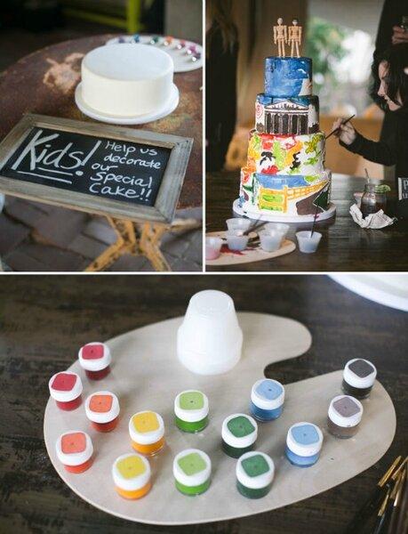 Un pastel para colorear muy alegre.