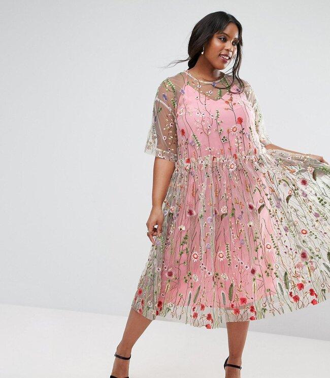 Más de 30 vestidos de fiesta de talla grande para invitadas que ...