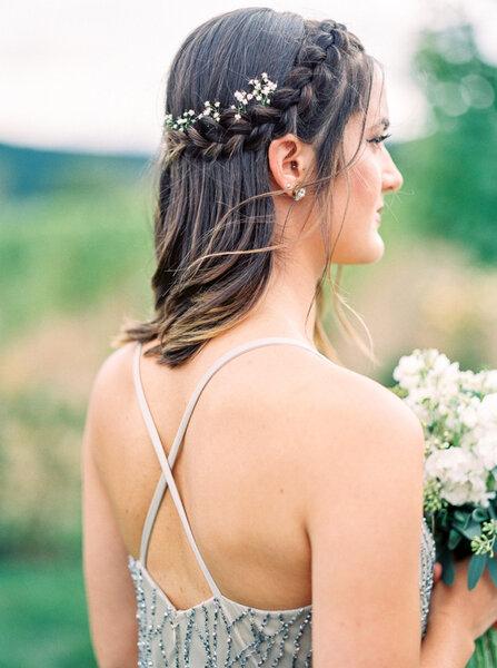 Peinado de novia con trenzas 2017.
