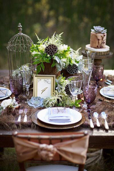 Mesa inspirada no Outono