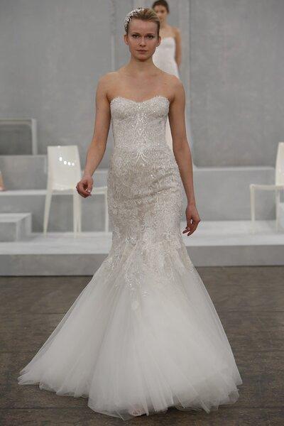 Suknia ślubna z kolekcji Monique Lhullier 2015  - New York Bridal Week