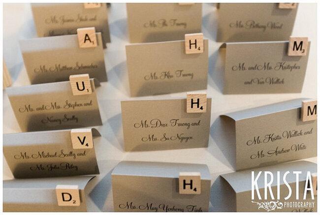 Utiliza las letras para marcar los nombres de tus invitados - Foto Krista Photography