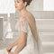 Rosa Clara 2015 Robe SILVESTRE. Robe dos nu avec des volants en tulle