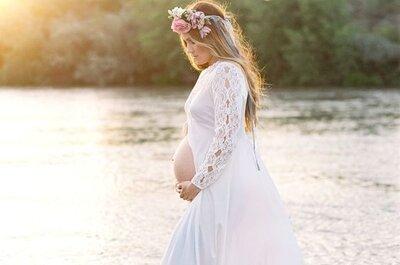 15 abiti da sposa per donne incinte perfetti in ogni periodo della gravidanza