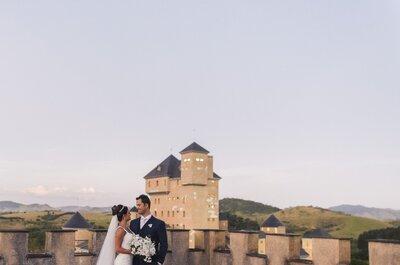 Casamento no castelo de Raquel e Gustavo: clássico, de dia, super romântico em Minas!