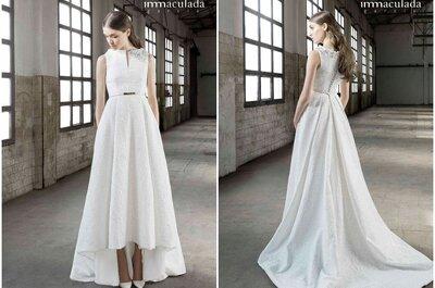 Descubre la colección de Inmaculada de García para 2016: vestidos únicos para novias elegantes