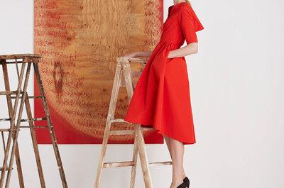 Lela Rose Pre Fall 2015: Vestidos de fiesta con líneas elegantes, cortes ambiciosos y volúmenes magníficos