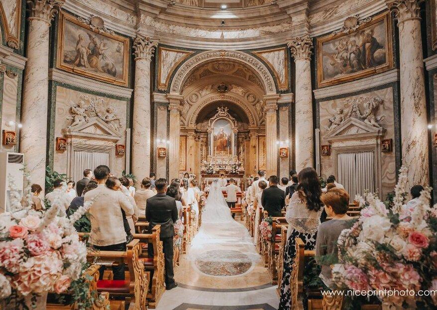 Come decorare la chiesa per un matrimonio religioso: ecco i consigli di Daniele Gori, professionista del settore!