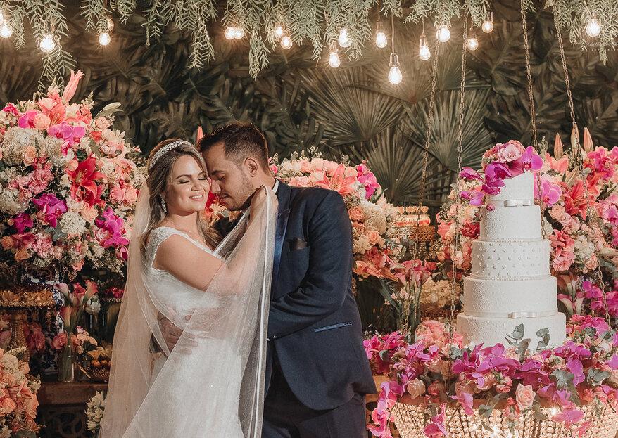 Carol & Walter: Uma década de união celebrada em grande estilo com um casamento super inspirador em Santos