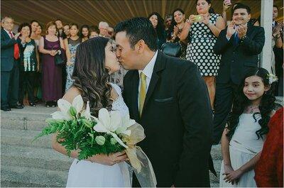 Alejandra y Pedro, un voto de amor frente al mar