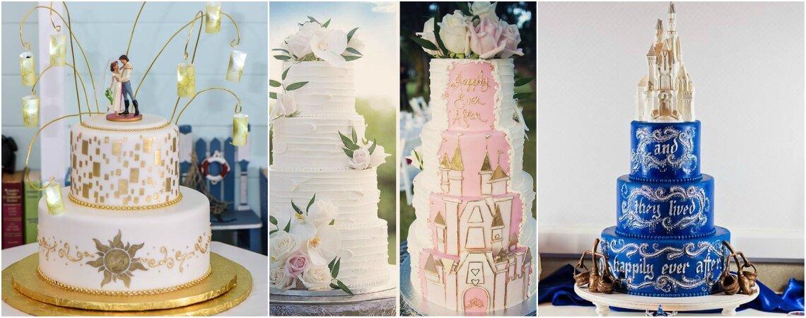 Tortas para matrimonio inspiradas en las mejores películas de Disney. ¡Te presentamos estos dulces llenos de fantasía y romanticismo!