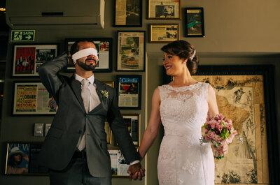 Meg & Gustavo: mini wedding rústico com toques vintage LINDO em Curitiba!