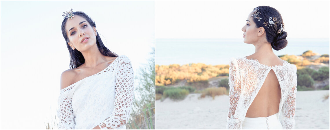 Una novia en Tarifa: mar, arena y vegetación en una historia llena de paz