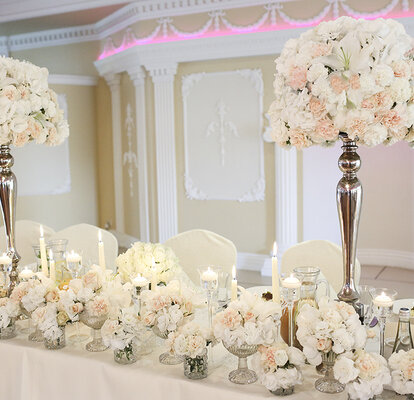 Dekoracje ślubne Ze świecami Blask światało I Urok