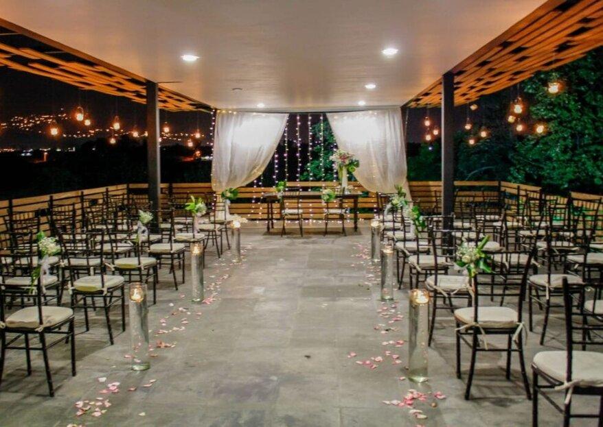 Hacienda La Aurora: diseño arquitectónico rodeado de naturaleza para una boda contemporánea