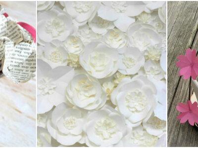 Meu casamento DIY - Como fazer margaridas de papel de seda coloridas!