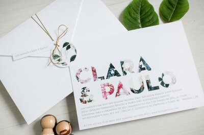 Convites de casamento em Brasília: os 4 melhores fornecedores!