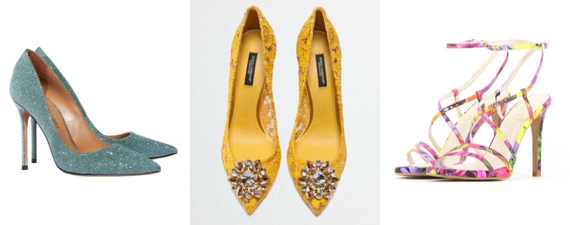 Sapatos de festa casamento mais incríveis para convidadas: modelos e cores exuberantes!