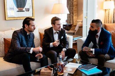 Der stylische Bräutigam von heute: Hier bekommen Sie einen Einblick in die Pre-Wedding-Stunden