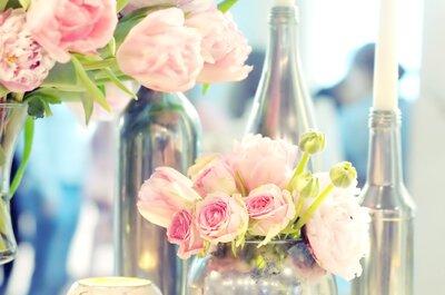 ¿Quieres rosas en tu decoración de boda? Te mostramos cómo hacerlo