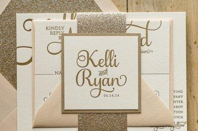 Las mejores y más originales tipografías para tu boda: Prepárate para ser la más creativa