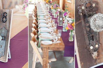 Decoración de boda estilo vintage