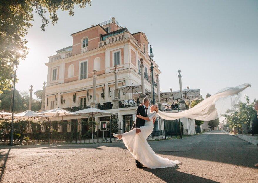 Il vostro matrimonio dei sogni tra storia ed eleganza a Casina Valadier