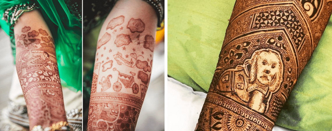 11 Quirky Mehendi Designs Ideas For The Indian Brides