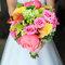 Ślub: różnokolorowy bukiet, Foto: Clau Photography