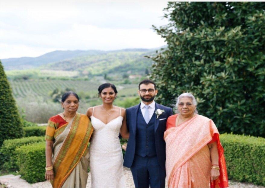 Un incontro d'anime, quello tra Dyaane e Bhavik al loro matrimonio indiano!