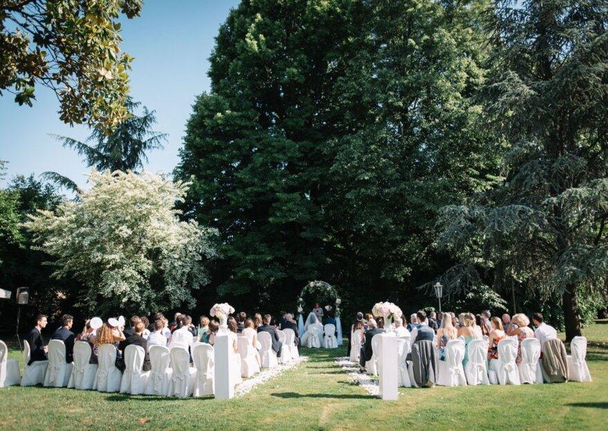 Il fascino del passato per un matrimonio d'altri tempi nelle sale e nei giardini di Villa Bevilacqua