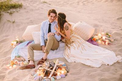 4 estilos para 4 lugares: romanticismo en la playa