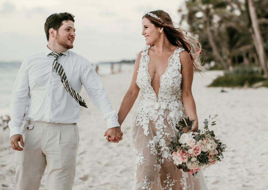Dejando huellas en el paraíso: la boda de Ana y Mario