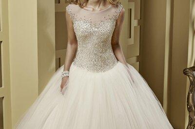 Para consentir a las novias románticas, los vestidos corte princesa son lo más