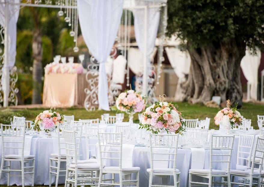 Un romantico aperitivo di benvenuto è solo l'inizio a Villa Dei Desideri, la location delle tue nozze