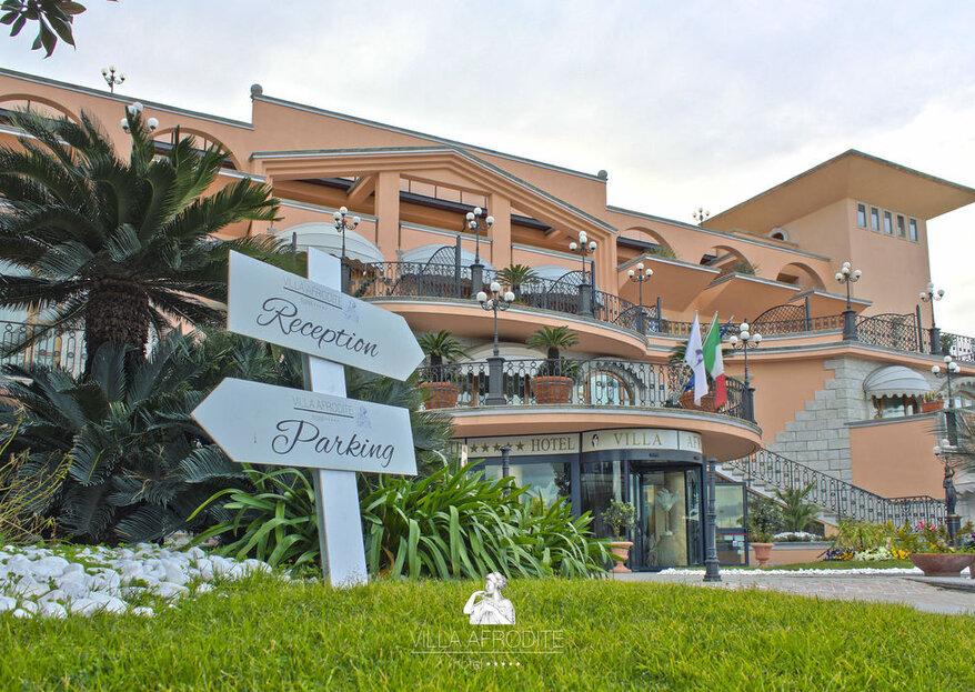 Hotel Villa Afrodite: un matrimonio divino come la dea della bellezza