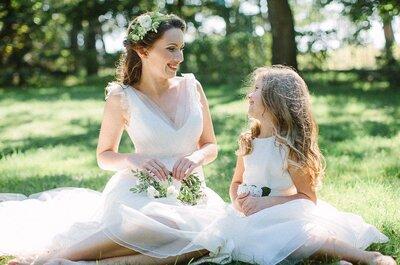 Детские прически на свадьбу: маленькая принцесса и элегантный джентельмен!