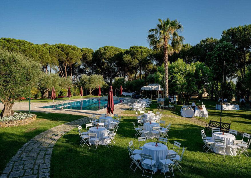 Villa Marozzi vi apre le porte del suo parco e dei suoi saloni, per un matrimonio glamour e indimenticabile!