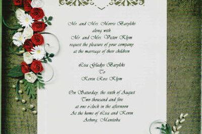Invitaciones de boda creativas con la técnica del quilling