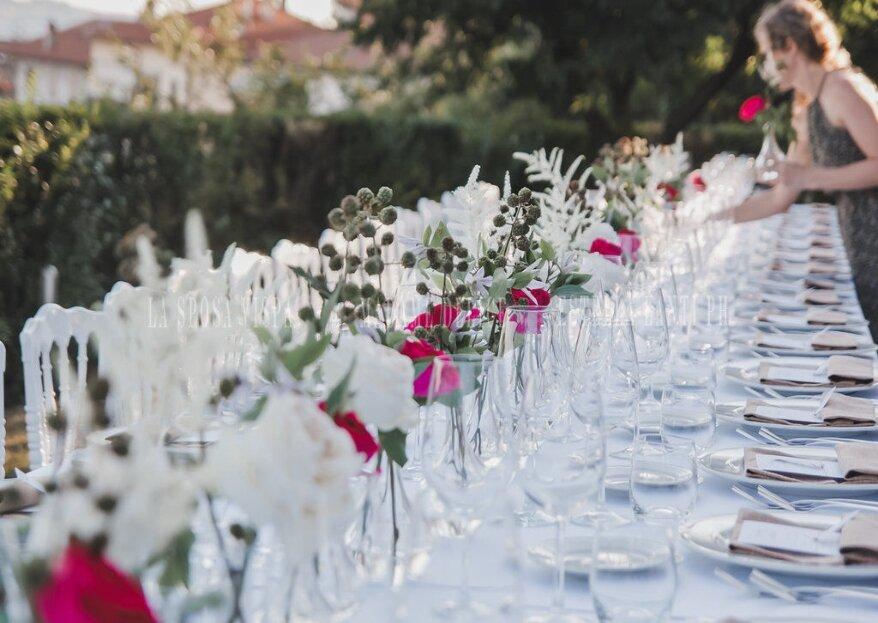 La Sposa Vispa sarà al vostro fianco per dare forma ad un ricevimento di nozze elegante e creativo