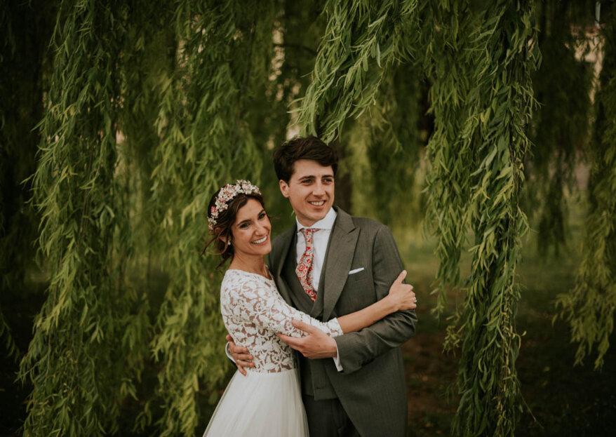 Mi boda romántica-campestre: el gran día de Cristina y Álvaro