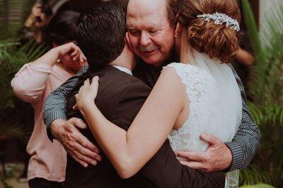 4 papeles que solo tus papás podrán desempeñar el día de tu boda